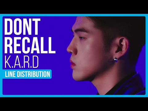 K.A.R.D - Don't Recall Line Distribution (Color Coded)