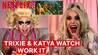 Drag Queens Trixie Mattel & Katya React to Work It   I Like to Watch   Netflix