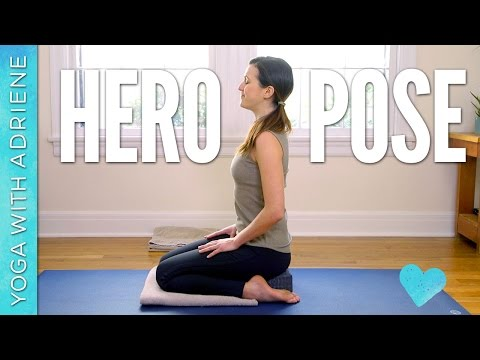 hero pose  virasana  yoga with adriene  bloglovin'