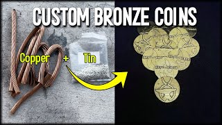 Casting Devil-Forge Custom BRONZE Coins - How To Make Bronze At Home