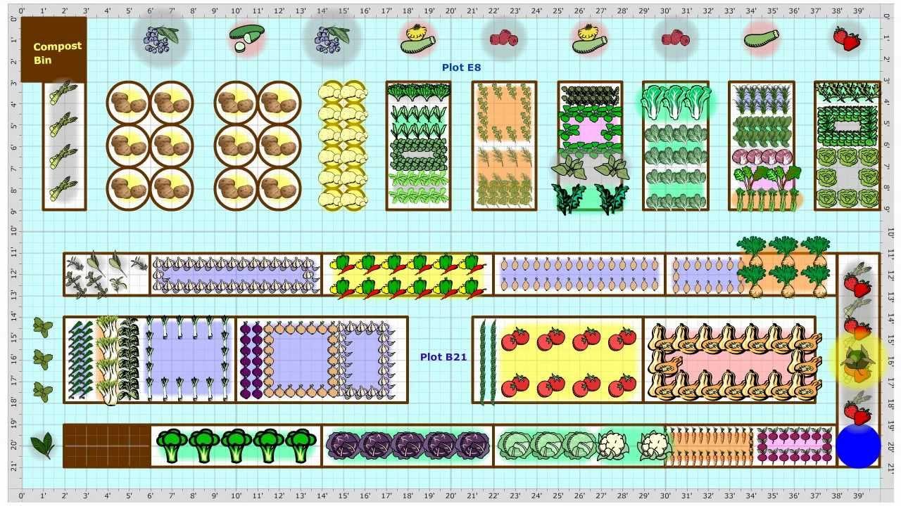 Garden Plans Gallery - find vegetable garden plans from ... on Backyard Planner id=29004