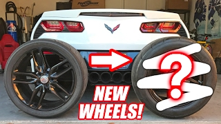 MY CORVETTE GOT NEW WHEELS!