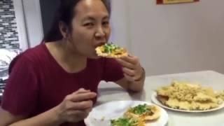 Cơm cháy chiên giòn -  New York/ Puffy rice with tiny shrimps