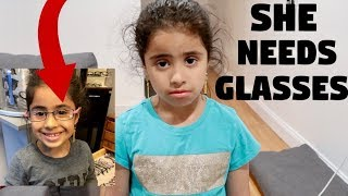 6 YEAR OLD FOUND OUT SHE NEEDS GLASSES!!!