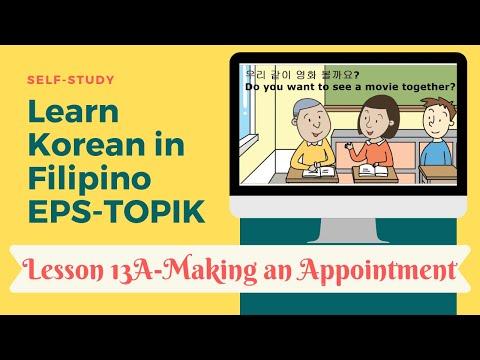 Self-study EPS-TOPIK 13A in Filipino