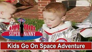 Dad & Young Boys Go On A SPACE ADVENTURE - So Cute!   Supernanny