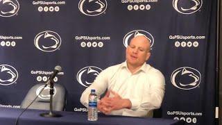 Penn State wrestling coach Cael Sanderson talks Nick Lee and Brady Berge