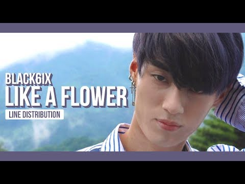 BLACK6IX - Like a Flower Line Distribution (Color Coded)