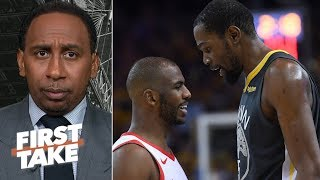 Rockets vs. Warriors series will be over in 5 games – Stephen A. | First Take