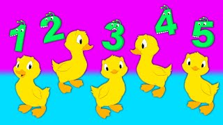 Five little ducks - Nursery Rhymes with your magic friend Groovy The Martian