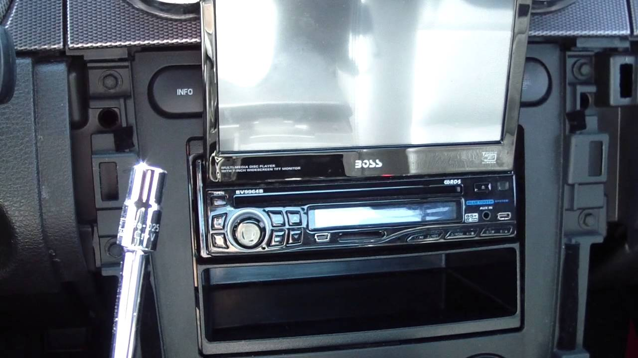 how to remove install add car radio stereo in a ford. Black Bedroom Furniture Sets. Home Design Ideas