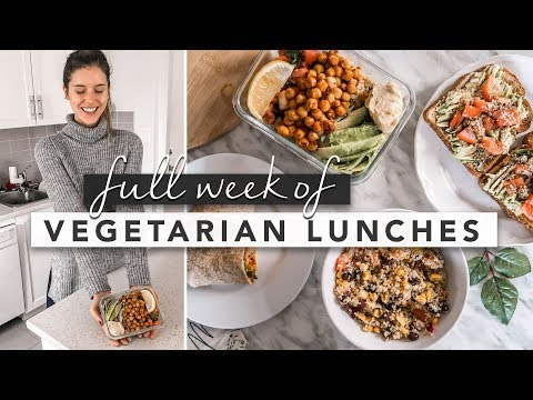 Healthy Vegetarian Lunch Ideas From Monday to Friday   by Erin Elizabeth