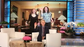 Ellen Surprises Two Fans on Skype