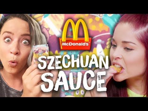 McDonald's Szechuan Sauce TASTE TEST! (Cheat Day)