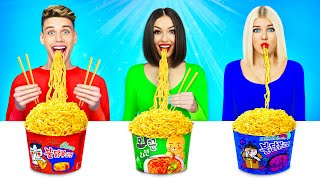 No Hands vs One Hand vs Two Hands Eating Challenge! Funny Food Situations by RATATA