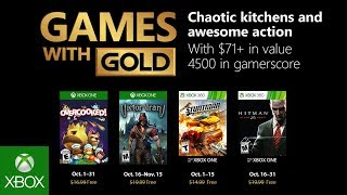 Xbox cooking up more free Games with Gold for October