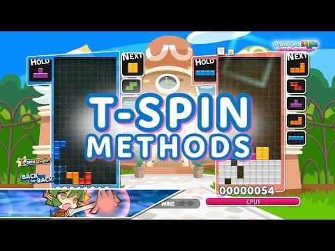 Puyo Puyo Tetris: T-Spin Methods Tutorial