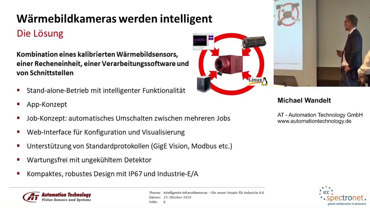 Intelligente Infrarotkameras: Ein neuer technologischer Ansatz für Industrie 4.0 - Technologieforum Bildverarbeitung 2019