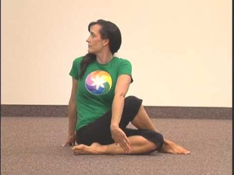 "simple yoga pose chakra 7 asana 6 ""seated spinal twist"