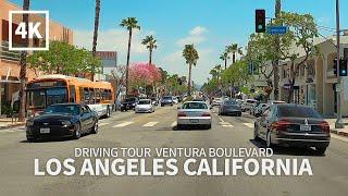 [4K] Driving Los Angeles - Ventura Boulevard, Studio City, Encino, Woodland Hills, California