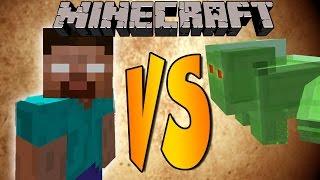 HEROBRINE VS SLIME BOSS - Minecraft Batallas de Mobs - Mods