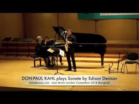 DON PAUL KAHL plays Sonate by Edison Denisov