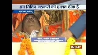 Video: Nitin Gadkari faints during event in Maharashtra's ..
