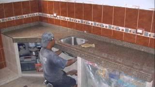 Cocinas De Concreto Y Azulejo