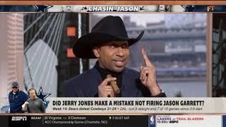 Did Jerry Jones make a mistake not firing Jason Garrett?   First Take