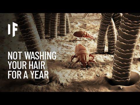 Што ќе се случи ако не си ја миете косата цела година?