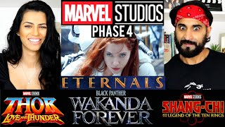 MARVEL STUDIOS - MCU Phase 4 Trailer REACTION!! (Eternals, Black Panther 2, Spider-Man, Thor)