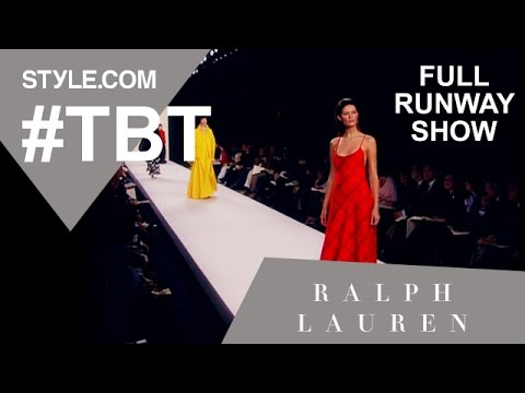 Ralph Lauren's Fall 1999 Full Runway Show - #TBT with Tim Blanks - Style.com