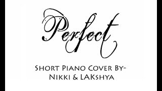 Perfect - Ed Sheeran - Short Cover By Nikki and [LIB] (Lyrics Video)