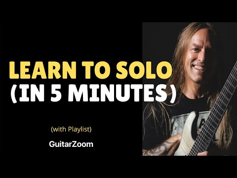 Steve Stine Guitar Lesson - Learn To Solo In 5 Minutes - 6 Note Soloing Technique