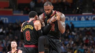 New Cavs Beat Thunder! LeBron 37 Points Near Triple Double! 2017-18 Season