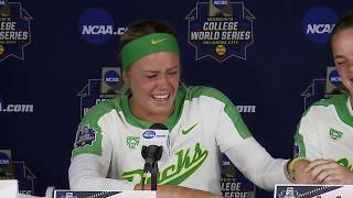 WCWS Oregon Post Game after loss against FSU