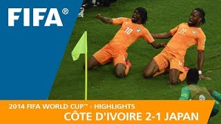 CÔTE D'IVOIRE v  JAPAN (2:1) - 2014 FIFA World Cup™