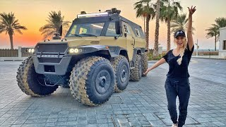 I drove this 8x8 monster truck on the Ocean!