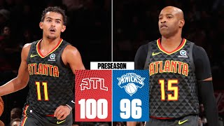 Trae Young, Vince Carter power Hawks to preseason win at MSG vs. Knicks | 2019 NBA Highlights