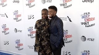 Chadwick Boseman and Danai Gurira 2018 Film Independent Spirit Awards