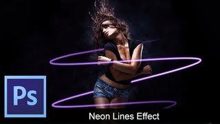 Adobe Photoshop CS6 - Basic Neon Lines [ Tutorial ]