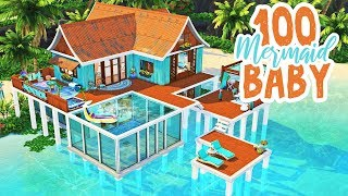 100 Mermaid Baby Challenge || The Sims 4: Speed Build