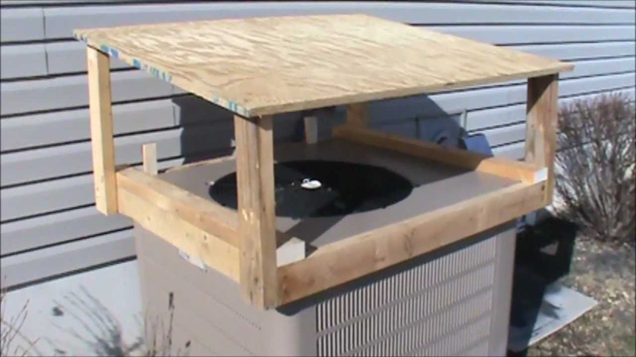 Heat Pump Cover For Ice Protection Youtube