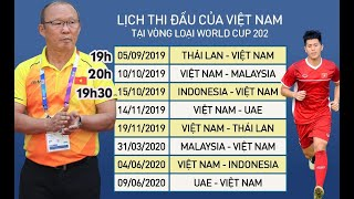 [CHÍNH THỨC] Lịch thi đấu Vòng loại World Cup 2022 của ĐT Việt Nam