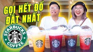 Vlog Mi Sơn - Thử thách đốt tiền : Gọi hết đồ đắt nhất của Starbuck !