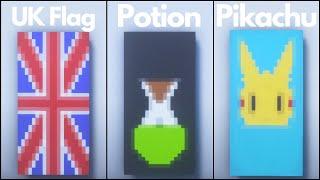 Minecraft: 7 Cool Banner Designs #3 (Tutorial)