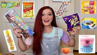 TEACHER TRIES HER STUDENTS FAVORITE SNACKS | TAKIS. HOT CHEETOS. LUNCHABLES &MORE