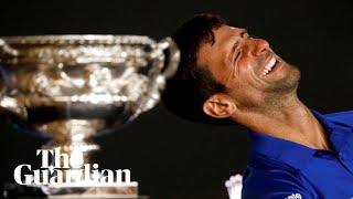 'Not too bad': Novak Djokovic jokes with reporters after Australian Open win