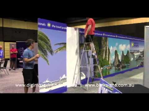 Harvey World Travel Expo Stand installation