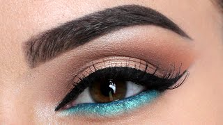 How To: Make Brown Eyes Pop | Pop of Blue Liner + xoBeauty Lashes